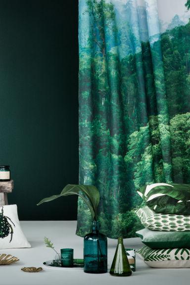 printed shower curtain white landscape home all h m gb. Black Bedroom Furniture Sets. Home Design Ideas