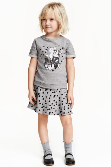 skirt and top grey spotted kids h m gb. Black Bedroom Furniture Sets. Home Design Ideas