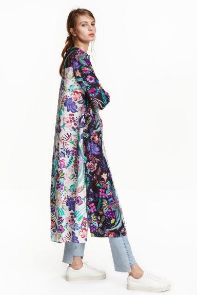 robe chemise longue ecru fleuri femme hm fr With tapis chambre bébé avec chemisier fleuri h m