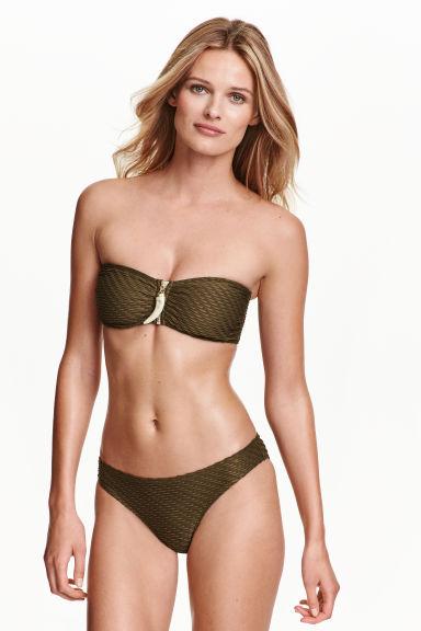 bikini bottoms dark khaki green ladies h m gb. Black Bedroom Furniture Sets. Home Design Ideas