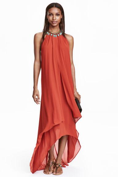 robe dos nu rouge rouille femme h m fr. Black Bedroom Furniture Sets. Home Design Ideas