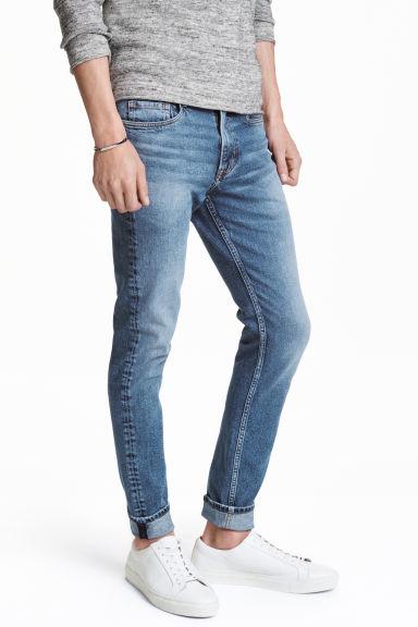 Skinny regular jeans denim blue men h m ie - Hm herren jeans ...