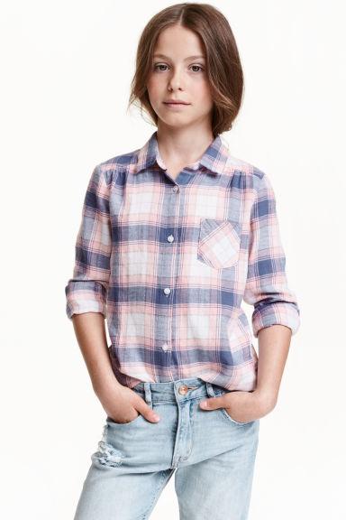 chemise en flanelle rose clair carreaux enfant h m fr. Black Bedroom Furniture Sets. Home Design Ideas