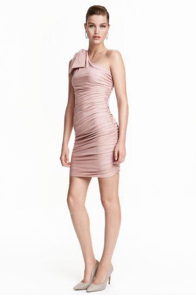 robe bretelle asym trique rose clair femme h m fr. Black Bedroom Furniture Sets. Home Design Ideas