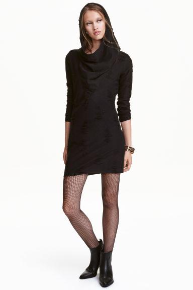 robe en maille noir femme h m fr. Black Bedroom Furniture Sets. Home Design Ideas