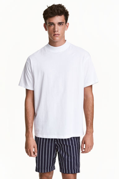 Turtleneck t shirt white men h m ca for Turtleneck under t shirt