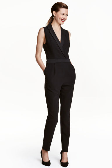 dressy jumpsuit black ladies h m ca. Black Bedroom Furniture Sets. Home Design Ideas