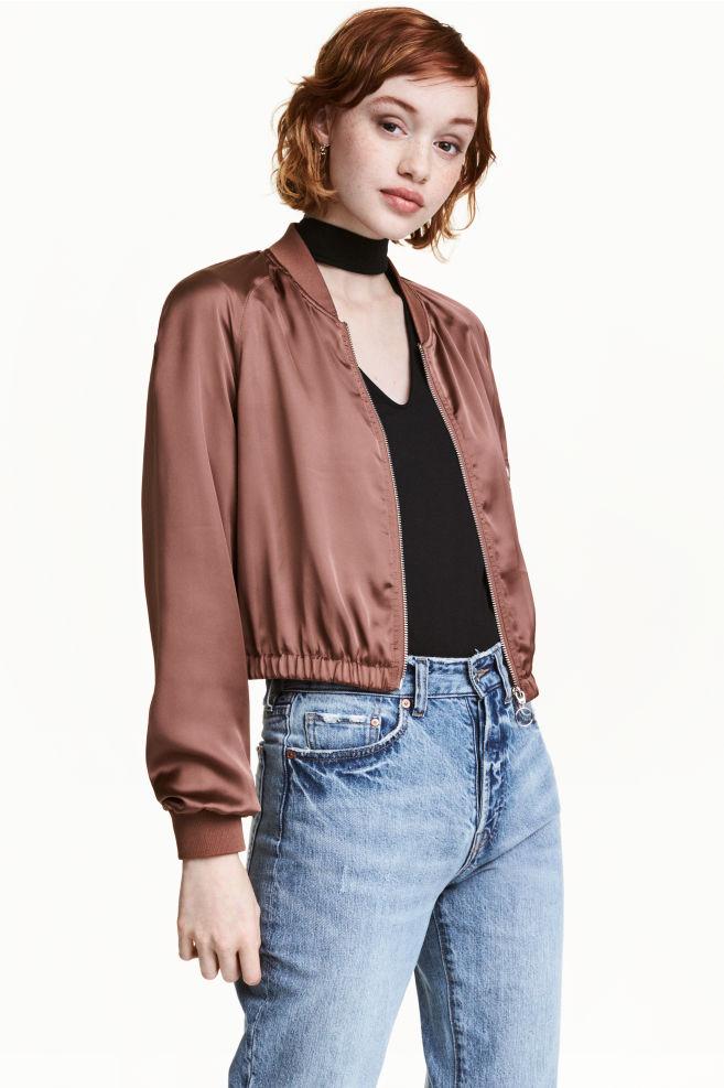 Bomber court - Bronze - FEMME | H&M FR 1
