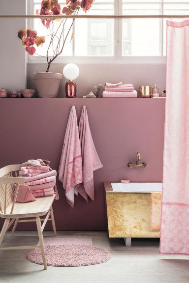Tapis de bain rose clair h m fr - Colori pareti bagno ...