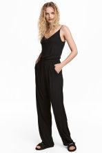combi pantalon en jersey noir femme h m fr. Black Bedroom Furniture Sets. Home Design Ideas