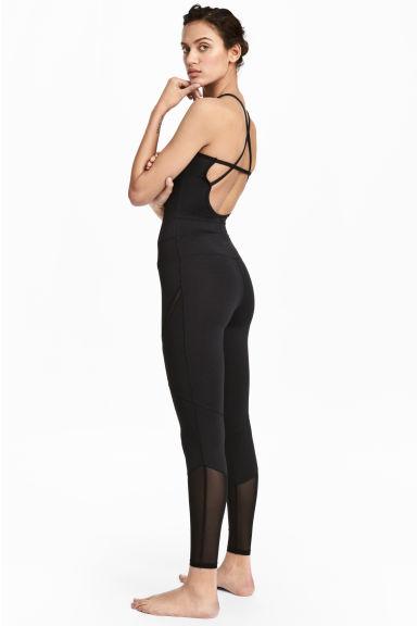 yoga jumpsuit black ladies h m gb. Black Bedroom Furniture Sets. Home Design Ideas
