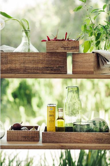 petit plateau en bois naturel h m fr. Black Bedroom Furniture Sets. Home Design Ideas