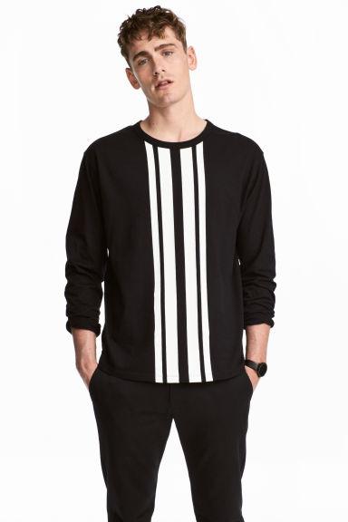 Tricou cu imprimeu - Negru - | H&M RO 1