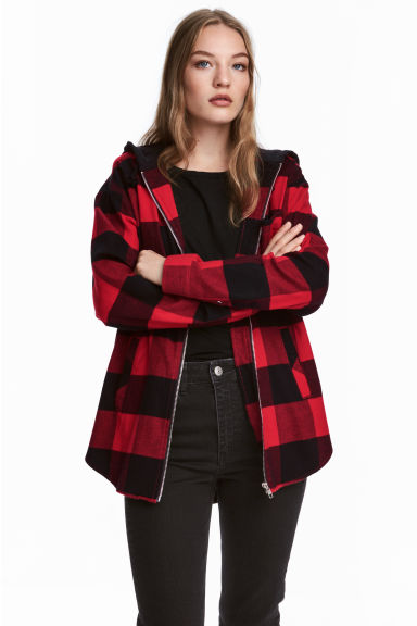 Jas - Rood geruit/flanel - DAMES | H&M BE 1