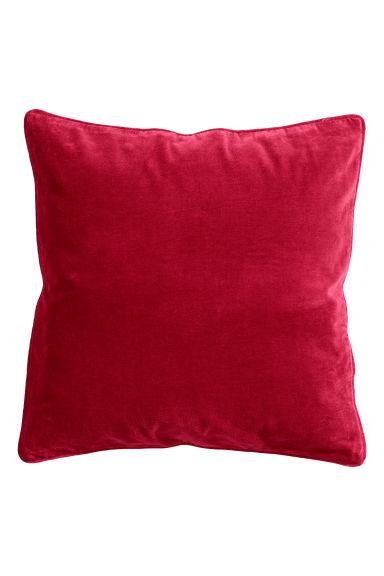 Housse de coussin en velours rouge home all h m fr - Housse coussin velours ...