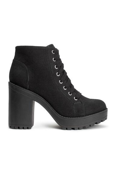botas con plataforma negro mujer h m es. Black Bedroom Furniture Sets. Home Design Ideas