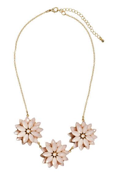 collier avec pendentifs fleurs rose clair femme hm fr With tapis chambre bébé avec collier de fleurs tahitien