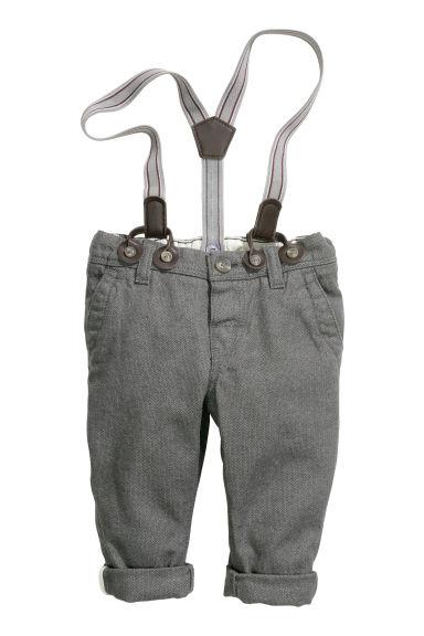 pantaloni con bretelle grigio scuro bambino h m it. Black Bedroom Furniture Sets. Home Design Ideas