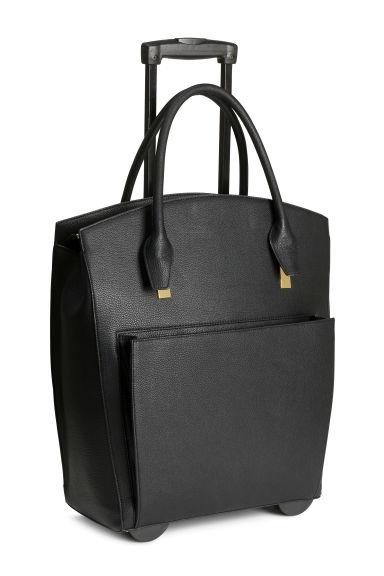 sac week end avec roulettes noir femme h m fr. Black Bedroom Furniture Sets. Home Design Ideas