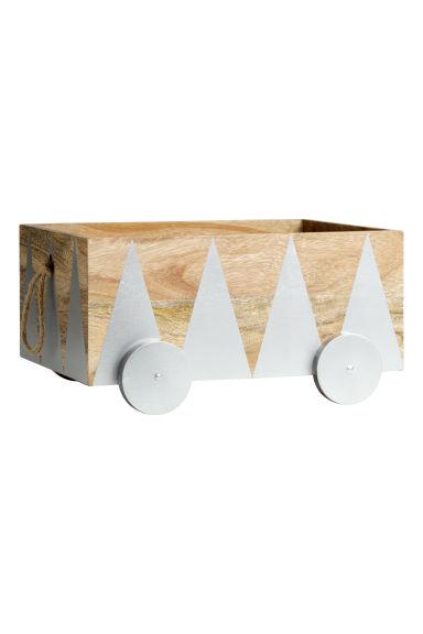 Caisse de rangement en bois argent home all h m fr - Caisse rangement bois ...