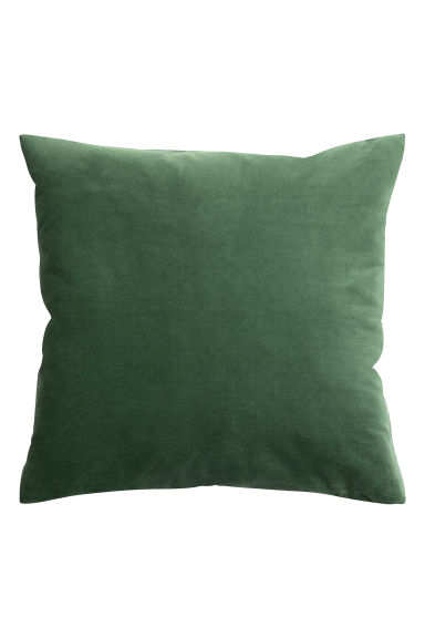 housse de coussin en velours vert fonc home all h m fr. Black Bedroom Furniture Sets. Home Design Ideas