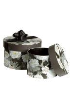 Scatole portaoggetti 2 pz grigio chiaro fiori home - Scatole portaoggetti ...