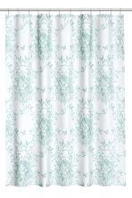 rideau de douche motif vert menthe motif home all h m fr. Black Bedroom Furniture Sets. Home Design Ideas