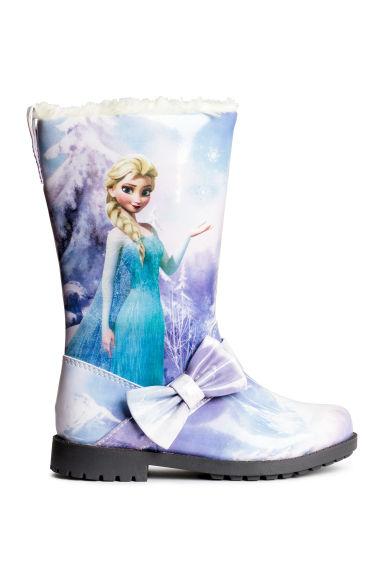 bottes doubl es polaire mauve la reine des neiges enfant h m fr. Black Bedroom Furniture Sets. Home Design Ideas