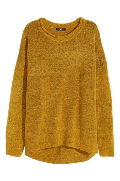 pull jaune moutarde pull over fin tricote jaune moutarde uni. Black Bedroom Furniture Sets. Home Design Ideas