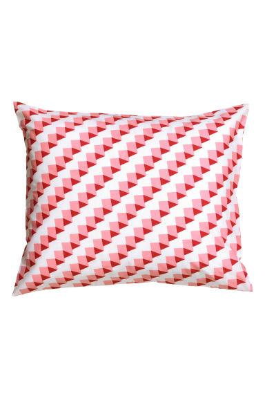 taie d 39 oreiller blanc motif home all h m fr. Black Bedroom Furniture Sets. Home Design Ideas