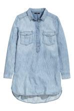 Camisa vaquera larga azul denim mujer h m es for Jeanshemd lang