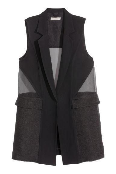 veste longue sans manches h m. Black Bedroom Furniture Sets. Home Design Ideas