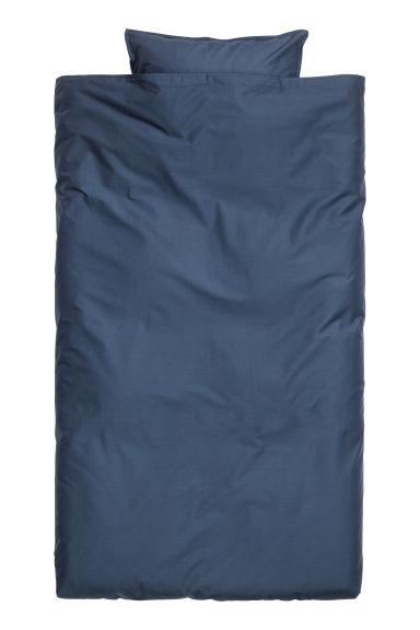 bettw sche aus baumwolle dunkelblau home h m ch. Black Bedroom Furniture Sets. Home Design Ideas