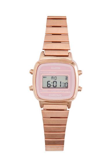 orologio digitale rosa dorato donna h m it. Black Bedroom Furniture Sets. Home Design Ideas