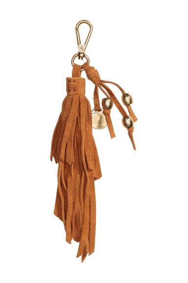Porte cl s avec pompon en daim camel femme h m fr for Porte jarretelle h m