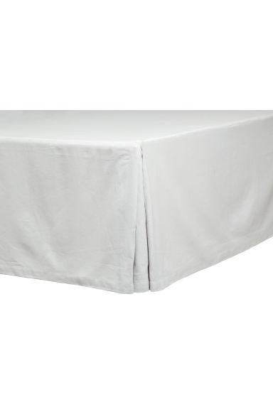 cache sommier en coton gris clair h m fr. Black Bedroom Furniture Sets. Home Design Ideas