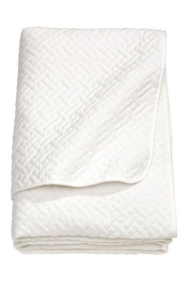 jet de lit simple matelass blanc home all h m fr. Black Bedroom Furniture Sets. Home Design Ideas