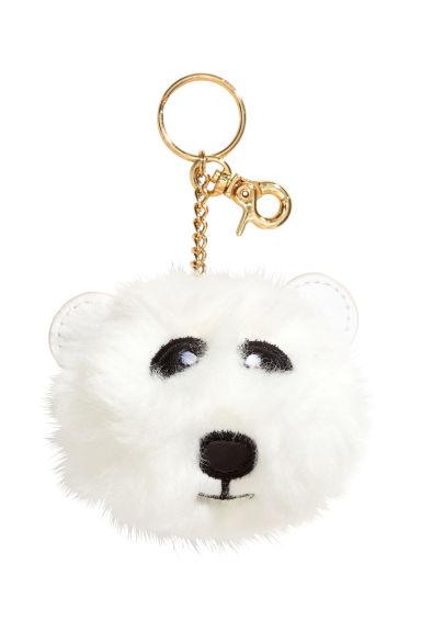 Porte cl s blanc ours blancs femme h m fr for Porte cle pompon h m