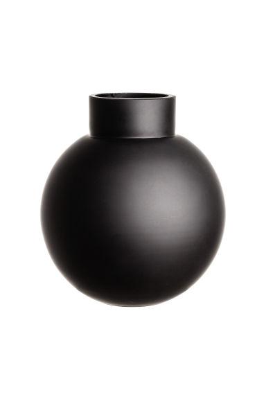 glass vase black home all h m gb. Black Bedroom Furniture Sets. Home Design Ideas