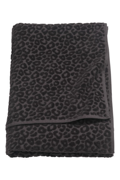 Leopard Patterned Bath Towel Black Home All H M Gb