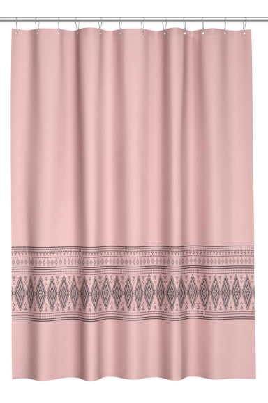 duschvorhang mit druck rosa h m ch. Black Bedroom Furniture Sets. Home Design Ideas