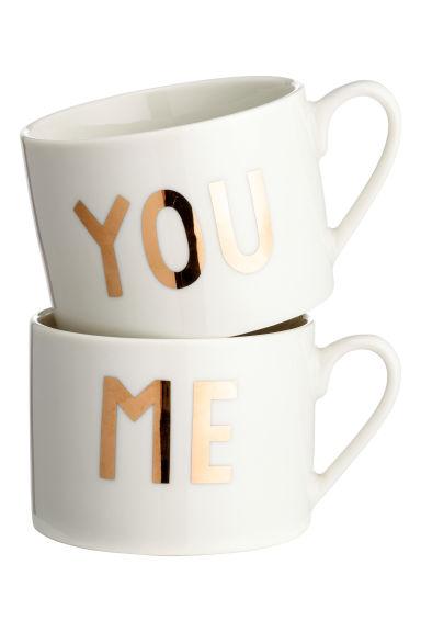 Lot deux mugs H&M
