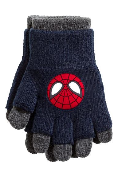 Fingerless gloves h m - Gloves Fingerless Gloves Dark Blue Spiderman Kids H M