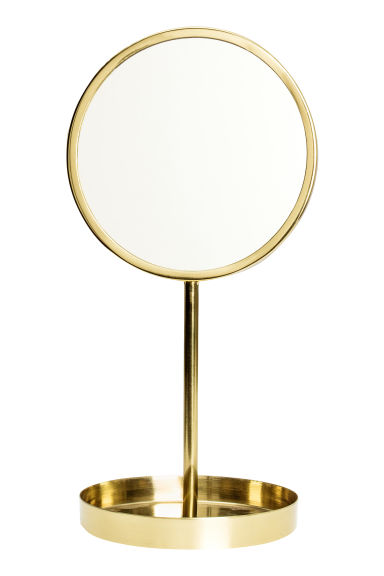 Round table mirror gold home all hm