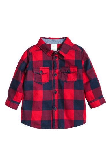 chemise carreaux en flanelle rouge carreaux enfant h m fr. Black Bedroom Furniture Sets. Home Design Ideas