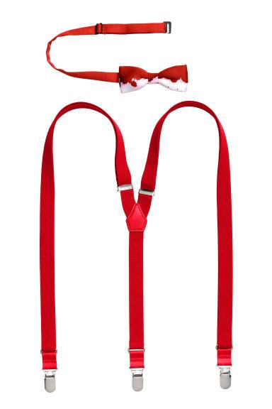 n ud papillon et bretelles rouge homme h m fr. Black Bedroom Furniture Sets. Home Design Ideas