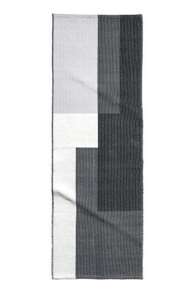 tapis en coton tiss jacquard blanc gris home all h m fr. Black Bedroom Furniture Sets. Home Design Ideas