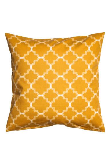 housse de coussin jaune moutarde home all h m fr. Black Bedroom Furniture Sets. Home Design Ideas