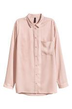 chemise en viscose rose poudr femme h m fr. Black Bedroom Furniture Sets. Home Design Ideas