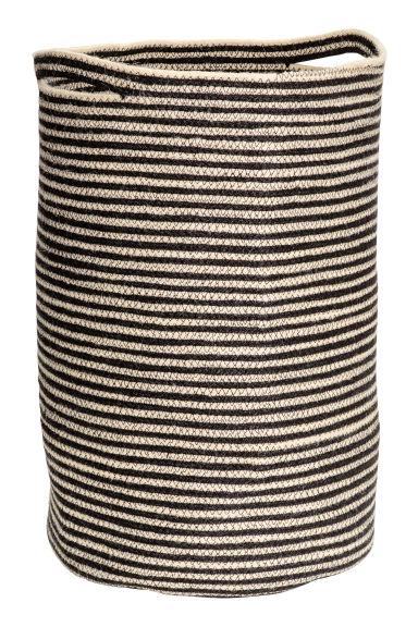 jute laundry basket light beige striped home all h m gb. Black Bedroom Furniture Sets. Home Design Ideas